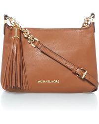 Michael Kors Weston Tan Zip Top Cross Body Bag - Lyst