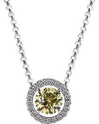 Carat* | Round 1.25ct Yellow Borderset Pendant Necklace | Lyst