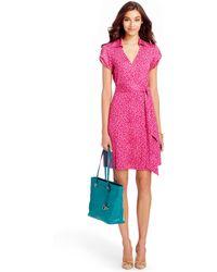 Diane von Furstenberg Jilda Two Silk Jersey Wrap Dress - Lyst