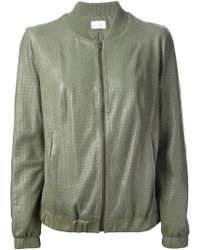 Forte Forte Perforated Bomber Jacket - Lyst