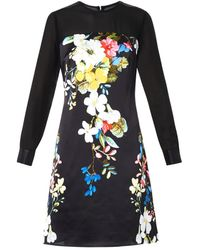 Erdem Onassis Velasquez Night-print Silk Dress - Lyst