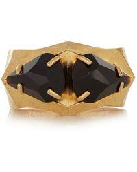 Alexander McQueen Gold-Plated Swarovski Crystal Bracelet - Lyst