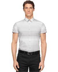 Calvin Klein Horizontal Ombre-Stripe Shirt - Lyst