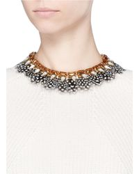 J.Crew | Feather Collar Necklace | Lyst
