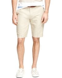 Brooks Brothers 11 Linen and Cotton Bermuda Shorts - Lyst