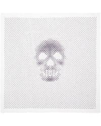 Alexander McQueen Pointilism Dot Skull Modal-silk Scarf - Lyst