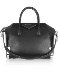 Givenchy Small Antigona Bag In Black Leather - Lyst