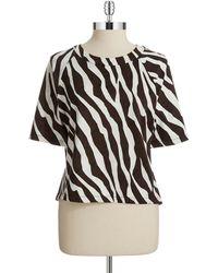 MICHAEL Michael Kors Zebra Print Top - Lyst