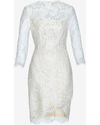 Lover Asymmetric Lace Dress White - Lyst