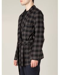 The Soloist - Checked Belted Shirt - Lyst