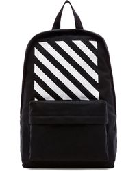Off-white Black Backpack - Lyst