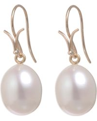 Dean Harris - White Pearl Earrings - Lyst