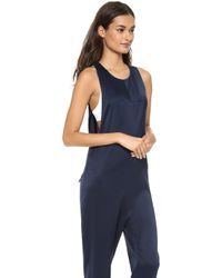 T By Alexander Wang Sleeveless Jumpsuit - Lyst