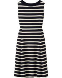 Uniqlo Women Striped Flare Sleeveless Dress - Lyst