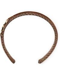 Ralph Lauren - Twill Stirrup Headband - Lyst