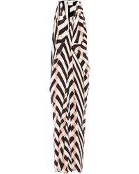 Lanvin Printed Silk-Crepe Maxi Dress - Lyst