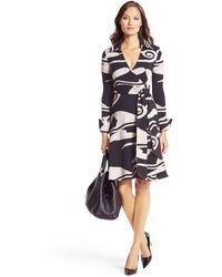Diane Von Furstenberg Bruna Wool Knit Wrap Dress - Lyst