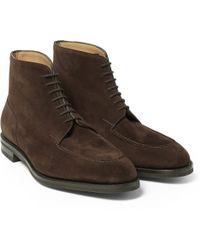 John Lobb Chambord Ii Suede Boots - Lyst
