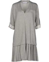 Viktor & Rolf Gray Short Dress - Lyst