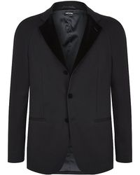 Giorgio Armani Jersey Tuxedo Jacket - Lyst
