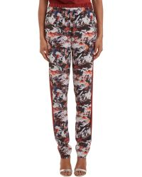 Prabal Gurung Brushstroke-Pattern Silk Pants multicolor - Lyst