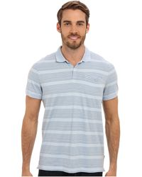 Calvin Klein Ss Engineered Polo W Chest Stripe - Lyst