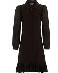 Outsider - Silk Shirt Dress In Black - Lyst
