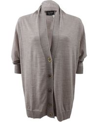 Lanvin Oversized Cardigan with Fitted Sleeves - Lyst