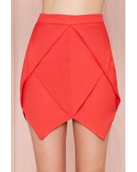 Nasty Gal Jagged Little Frill Skirt  Red - Lyst