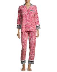 Oscar de la Renta - Sahara Printed Long-sleeve Pyjama Set - Lyst