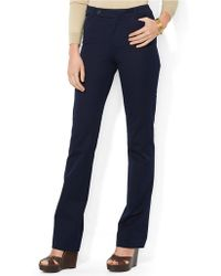 Lauren by Ralph Lauren Stretch Twill Slimming Straight Pant - Lyst