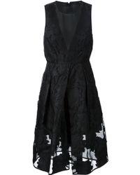 Tibi Jacquard Flared Midi Dress - Lyst
