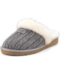 Ugg Cozy Knit Shearling Slipper Mule - Lyst