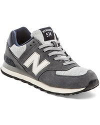 New Balance Gray Ml574 - Lyst