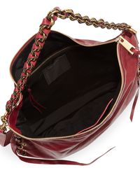 Marc Jacobs Laces Nomad Hobo Bag Wine - Lyst