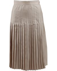 Givenchy Stitched Down Pleated Skirt - Lyst