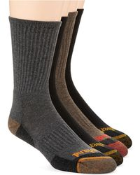 Timberland Four Pack Outdoor Leisure Crew Socks - Lyst