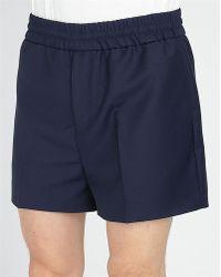Acne Studios Blue Ryder Wool Shorts - Lyst
