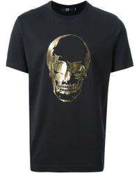 Markus Lupfer Foil Skull T-shirt - Lyst