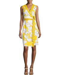 Diane von Furstenberg New Yahzi Printed Silk Wrap Dress - Lyst