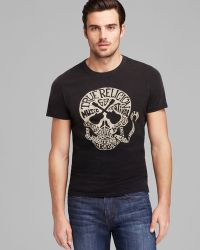 True Religion Guitar Skull Crew Neck Tee - Lyst