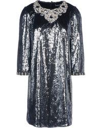 Dolce & Gabbana Silver Short Dress - Lyst