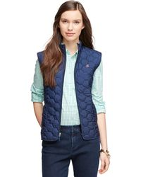 Brooks Brothers Quilted Vest - Lyst