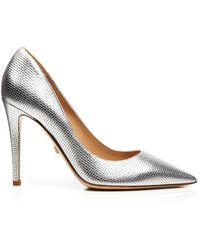 Diane von Furstenberg Pointed Toe Pumps - Bethany Grid High Heel - Lyst