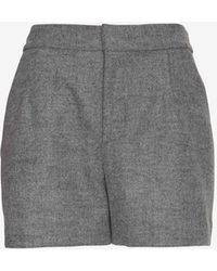 Joie Wool Shorts - Lyst