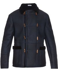 Tomas Maier - Patch-pockets Shearling Coat - Lyst