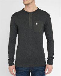 G-Star RAW | Black Mazuren Chest Pocket Ls T-shirt | Lyst