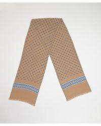 Gucci Beige Silk Pattern Printed Scarf - Lyst