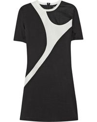 Neil Barrett Paneled Scubajersey and Techmesh Dress - Lyst