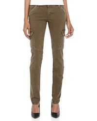 Current/Elliott Skinny Twill Cargo Pants - Lyst